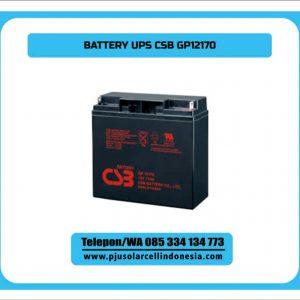 Battery UPS CSB GP12170 F2 ini didesain untuk aplikasi beberapa UPS dengan kapasitas besar serta beberapa sistem catudaya DC. Produk andalan dari pabrik Matsushita dengan teknologi VRLA AGM dan container ABS kualitas terbaik dan sudah berpengalaman puluhan tahun. Semua aplikasi ini sangat cocok dalam penggunaan sistem standby use, yang artinya hanya di gunakan pada saat sistem black out atau mati pada sistem UPS atau rectifier. Spesifikasi CSB GP12120 VRLA AGM Teknologi Rendah pengosongan diri Tahanan internal yang rendah Bahan material lulus tes UL1989 Tested Arus yang stabil Desain umur 5 – 7 tahun Bergaransi resmi pabrik Aplikasi Baterai CSB GP12170: UPS Riello untuk ruang server Catudaya DC Rectifier sistem SCADA Lampu rambu lalu lintas PJU tenaga Surya Sistem DC lainya Baterai Inverter DBSN Group menjadi beberapa distributor resmi Baterai UPS CSB GP12170 Rocket, Powerkingdom, Haze, Vision, Kijo, Arosbat, Yuasa. Produk lainya sebagai pelengkap dibidang catudaya kami juga menyediakan beberapa produk lainya sebagai pendukung penggunaan battery itu antara lain : Rectifier atau Battery Charger Inverter plus charger UPS PLTS Spesifikasi Battery CSB GP12170 KATEGORI VRLA TEKNOLOGI AGM Tegangan Nominal 12 VDC Kapasitas 17AH Fitur Bebas Perawatan, Rendah arus pengosongan, Desain umur 7 tahun Konektor M8 connector Berat 5,5 kg Panjang 181 mm Lebar 77 mm TinggI 177 mm Kode Produksi GP12170 Tipe battery 12V 17 AH Tipe di merk lain Rocket ES12-18, CP1218, TnD12-18, SMT12-17, Panasonic LC-P1217NA